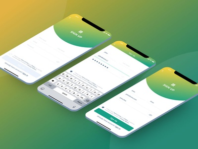 Sign Up Screens UI