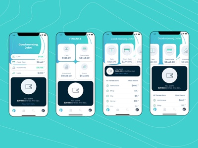 Home Screens for Finance App