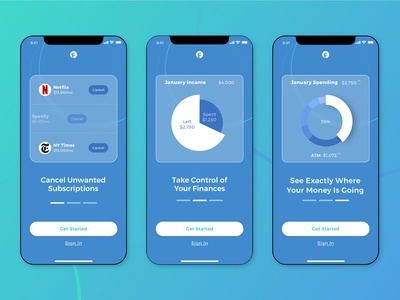 Onboarding Screens for Finance App