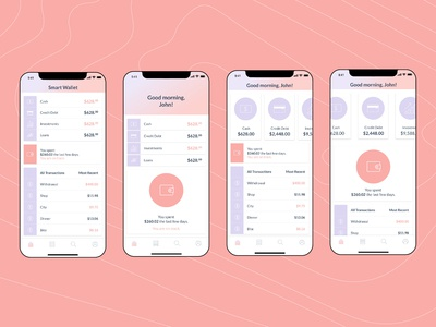 Home Screens for Finance Application