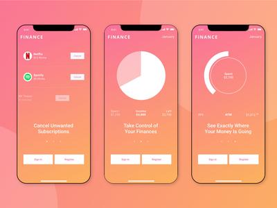Walkthroughs for FiNANCE app