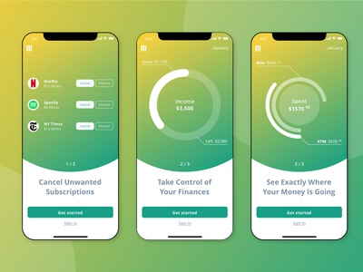 Onboarding Screens for Money Manager App