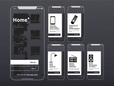 Onboarding Screens for Home+ app
