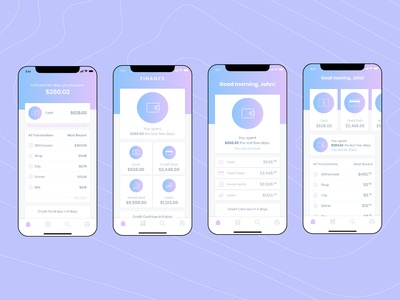 Home Screens - Finance App