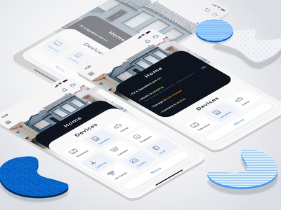 Home Screens for Auroraw (Smart Home) Application