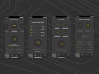 Home Screens (Dark Mode) for Finance App