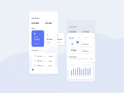 Mining Cryptocurrency Mobile UI