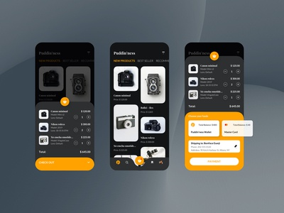 Puddin'ness Shopping Mobile UI