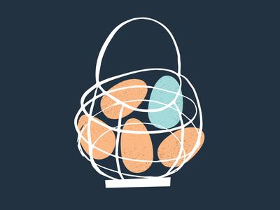 Egg basket illustration adobe illustration illustration
