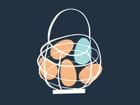 Egg basket illustration