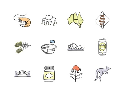 Australian themed Icons