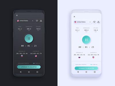 VPN app concept timer neumorphic vpn app app ui mobile