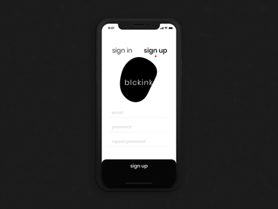 001 Sign Up black and white animation ios iphone mobile signup dailyui001 dailyui