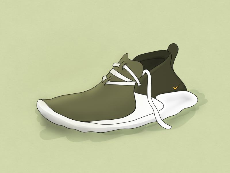 Footwear footwear green illustration shoe ipad
