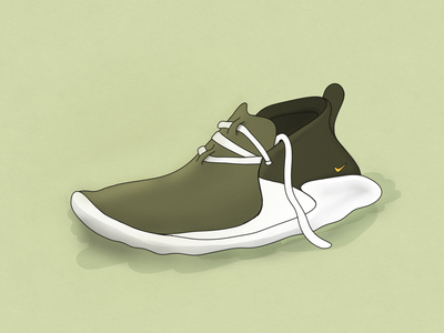 Footwear footwear green illustration shoe ipad