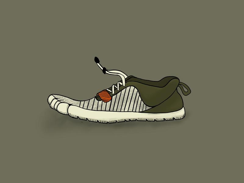 Vibram Color Scheme design illustration shoe design
