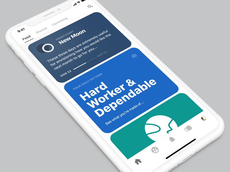 Feed mobile ios random appdesign design app selfhelp patterns astrology