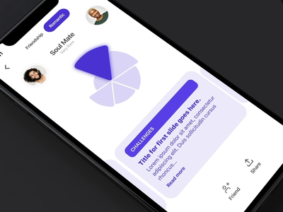 Soul Mate purple mobile app aftereffects animation white mobile ios ui design