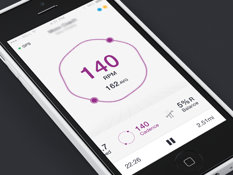 Cadence Concept cadence fitness tracking movement left right app ui ios