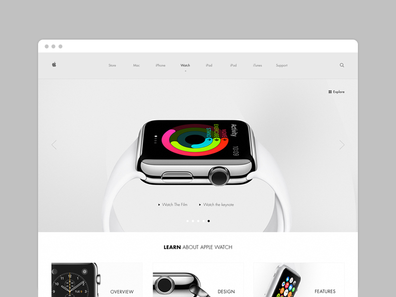 Apple Watch Facelift apple ios web design wip watch website