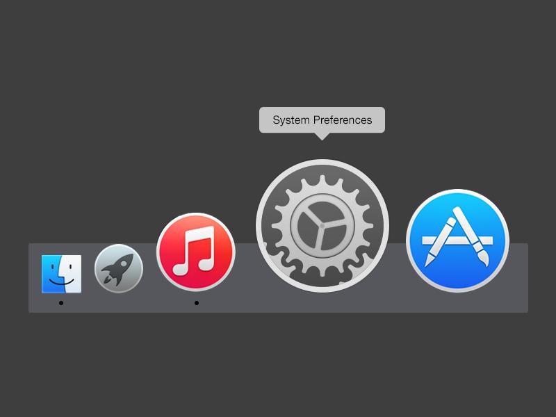 Yosemite Settings Icon yosemite osx apple design icon settings
