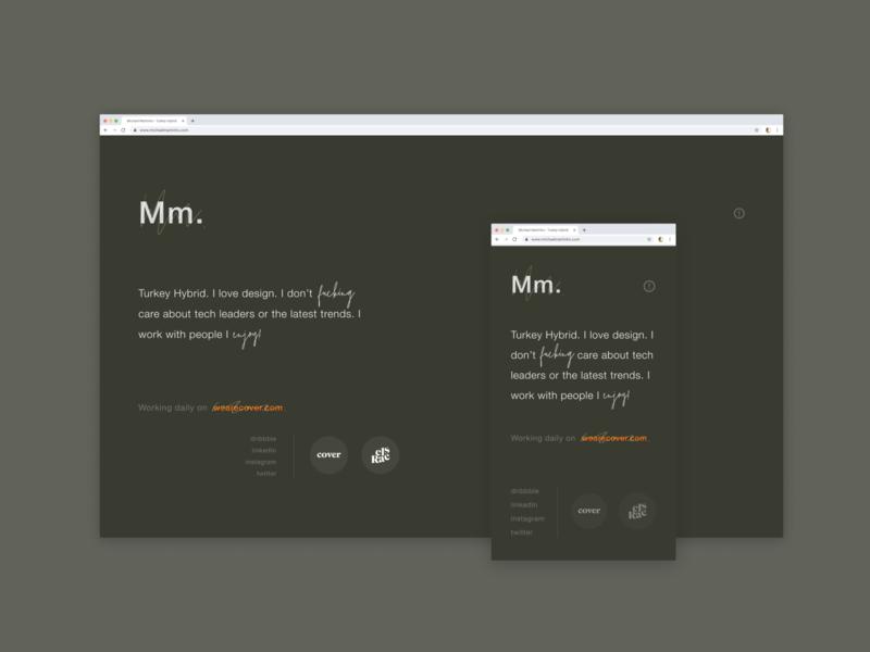 Portfolio Redirect Site. typography vector logo design white website design art website