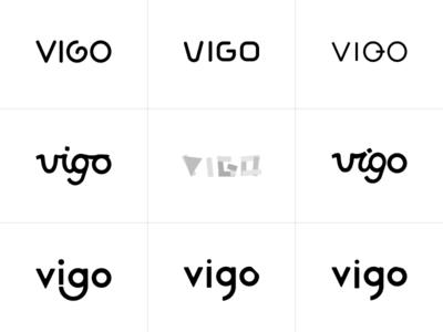 Vigo Wordmark typography branding vector logo design