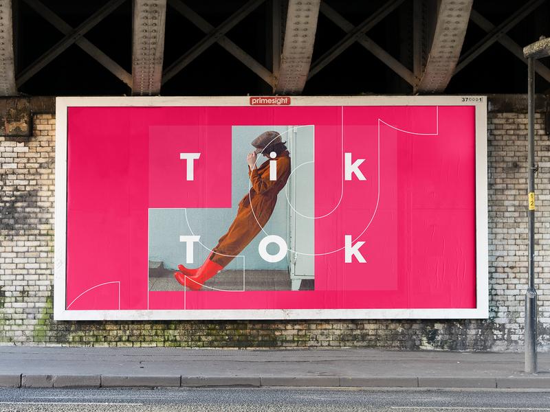 TikTok OOH typography white vector logo branding design exploration