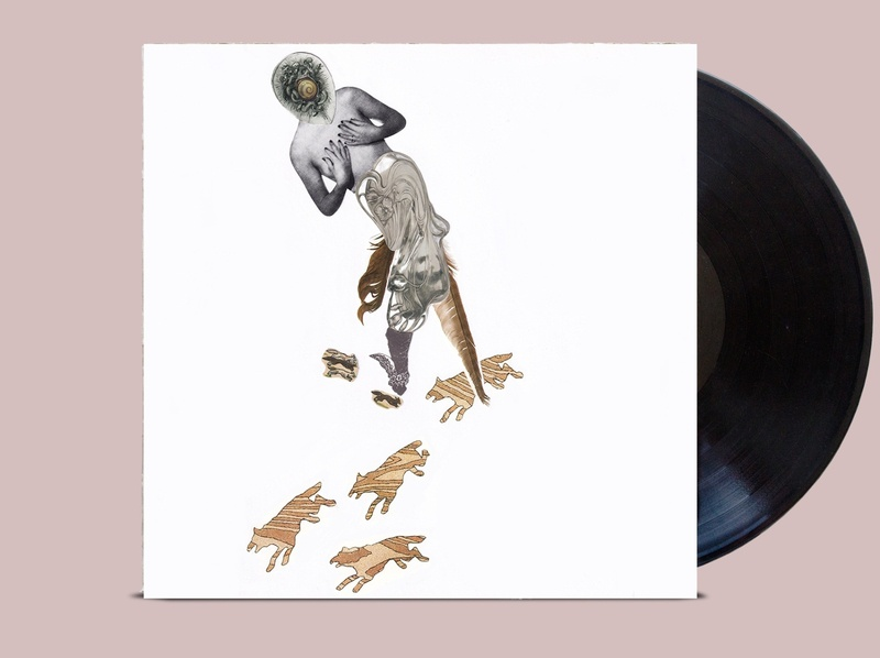 лисы жены волков / wolves wives foxes vinyl cd vinyl cover vinyl record vinyl collage коллаж digital procreate print drawing character poster дизайн иллюстрация design illustration