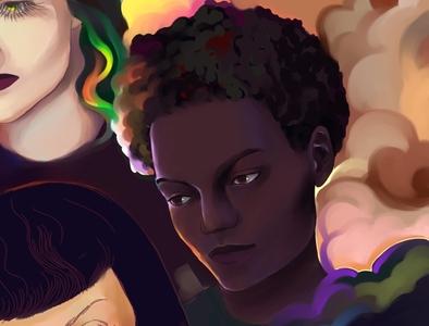 The Stranger (Camus novel) Part 1 print character digital procreate graphic poster дизайн иллюстрация design illustration