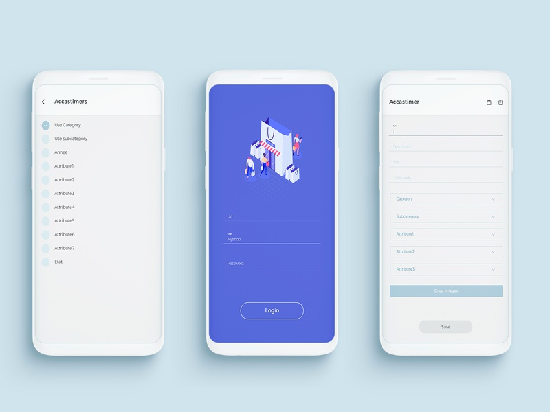 UI/UX for custom Android app by we9designer sign in sign flat design illustration ux app apps application android app ui