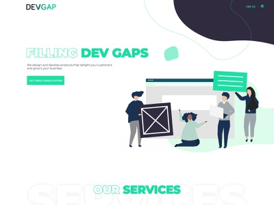 DevGap's new website front end design app ux-ui branding