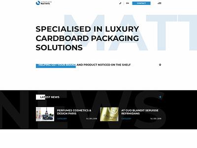 Groep Matthys version 1 web design wordpress clean design front end design branding