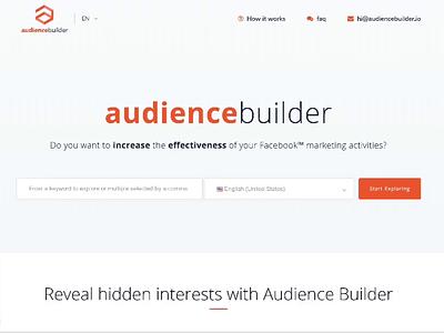 audiencebuilder uxui design facebook ads facebook api development front end design branding