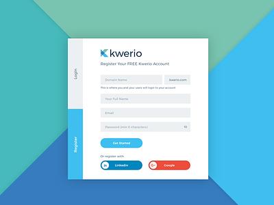 KWERIO: Saas application simple ux  ui ux dashboard saas bot clean design branding