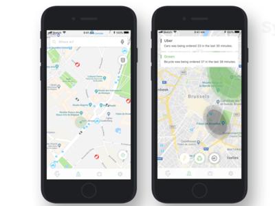 Citymove: The Future of Smart City Mobility minimal travel mobile app experience design clean design uxd mobile app