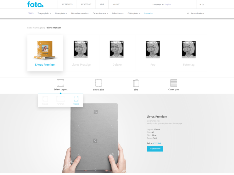 Photo book product page product page uxd ecommerce ui userexperiencedesign front end design design clean design