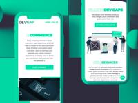 DevGap.uk - new website - and improved color scheme
