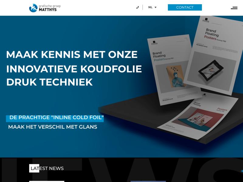 Groep Matthys: Version 2: Header with background front end design ux-ui branding