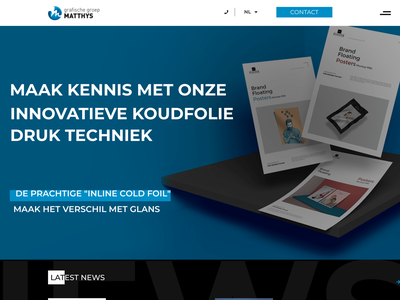 Groep Matthys: Version 2: Header with background front end design ux-ui branding