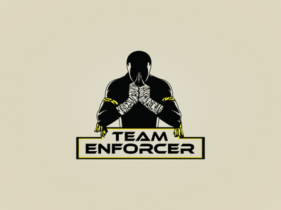 Team Enforcer Logo fighting fight club logo design icon vector branding illustration logo