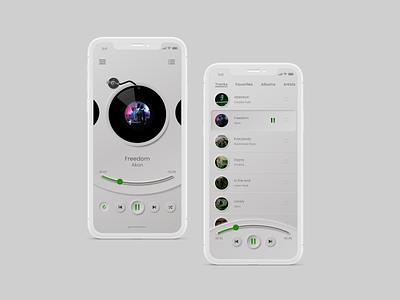 Neumorphic Music Player skeumorphism skeumorphic app web design uxdesign uiux uidesign ux ui neumorphism neumorphic