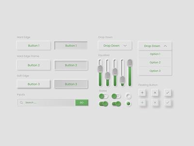 Skeumorphism UI elements for adobe xd uiux uielements uxdesign ux uidesign ui skeumorphism skeumorphic neumorphic design app