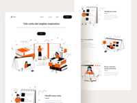 Landing Page Exploration for Writing Courses inspiration article minimal outline human line art website design course monochrome book writing landing page character people