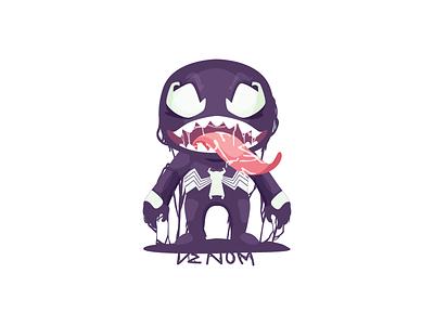 Venom monster spiderman marvel venom 2d character illustration