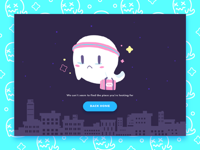 Where I belong ? town night 404 error ghost character illustration