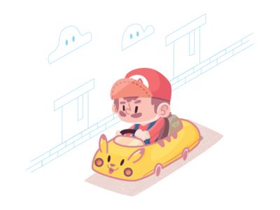 Mario + Pikachu