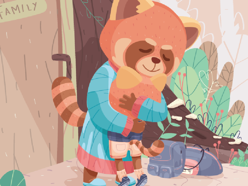 See You, Ma! forest animal cute character illustration