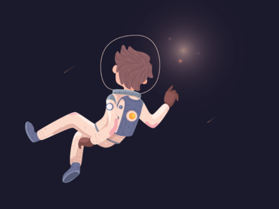 Hope universe outerspace adventure astronaut character illustration