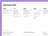 Taskweek interface plan calendar agenda week tasks